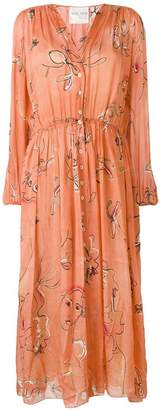 Forte Forte embroidered long-sleeve dress