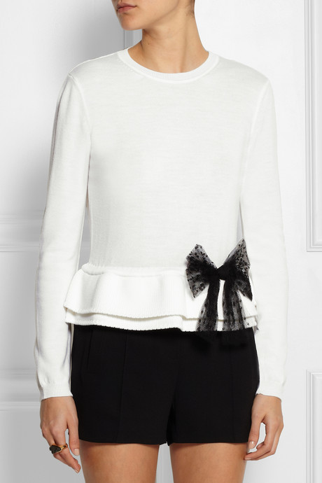 RED Valentino Bow-embellished wool sweater