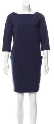 Max Mara Weekend Rib Three-Quarter Sleeve Dress