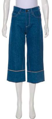 Vionnet Cropped High-Rise Wide-Leg Jeans w/ Tags
