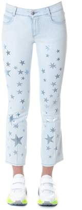 Stella McCartney Cotton Denim With Star Prints