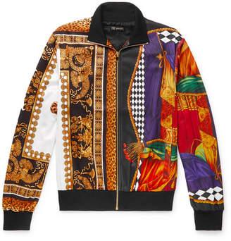Versace Printed Satin-Jersey Track Jacket - Men - Multi