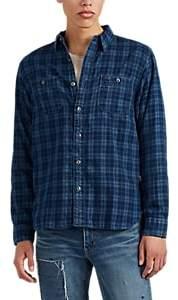 RRL Men's Plaid Cotton Shirt - Blue
