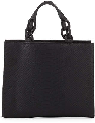 Jagger Kc Bowie Python-Embossed Leather Crossbody Bag
