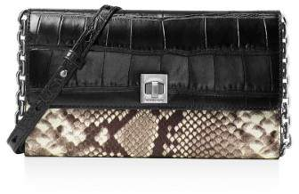 Michael Kors MICHAEL Womens Natalie Leather Embossed Clutch Handbag - ONE COLOR - STYLE
