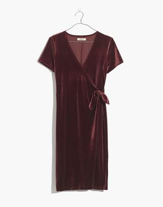 Madewell Velvet Side-Tie Dress