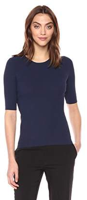 Theory Women's Short Sleeve Tech Rib Crewneck Sweater