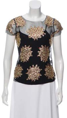 Gryphon Sequin Short Sleeve Top