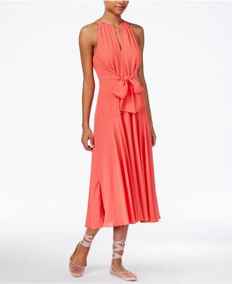 RACHEL Rachel Roy Claudette Tie-Front Midi Dress, Only at Macy's $119 thestylecure.com