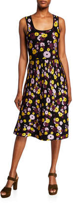 Kate Spade Floral Jacquard Sleeveless Sweater Dress