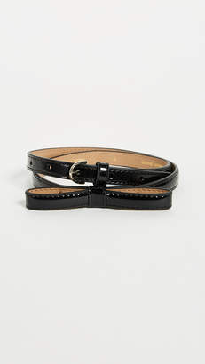 Kate Spade Patent Skinny Bow Belt