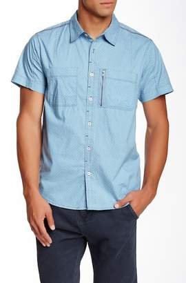 Seven7 Stitch Trim Slim Fit Short Sleeve Shirt