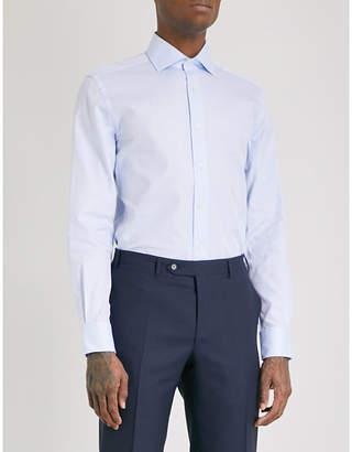 Corneliani Plain regular-fit single-cuff shirt