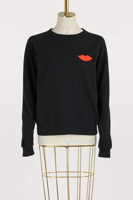 Clare Vivier Cotton lips sweatshirt