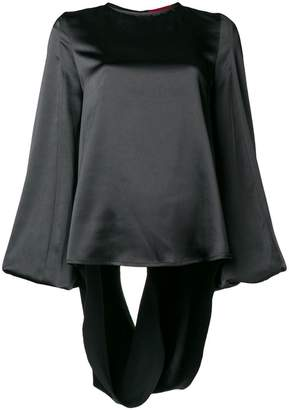 Margaux Rouge open back blouse