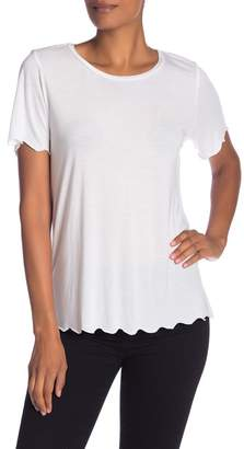 Michael Stars Crew Neck Scalloped Edge Tee