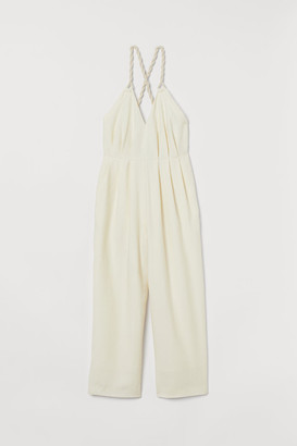 H&M Ankle-length Lyocell Jumpsuit - White