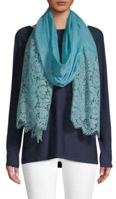 Valentino Floral Lace Scarf