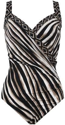 Miraclesuit Swimsuit 1 Piece Womens Sanibel Opposites Attract Noir
