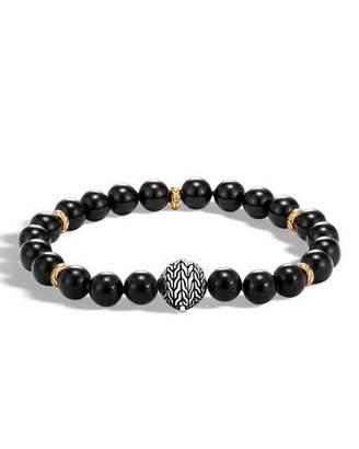 John Hardy Men's Classic Chain Medium Bead Bracelet, Black $995 thestylecure.com