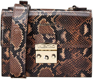 Mario Valentino Valentino By Etienne Python-Embossed Leather Shoulder Bag