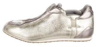 Fendi Leather Low-Top Sneakers