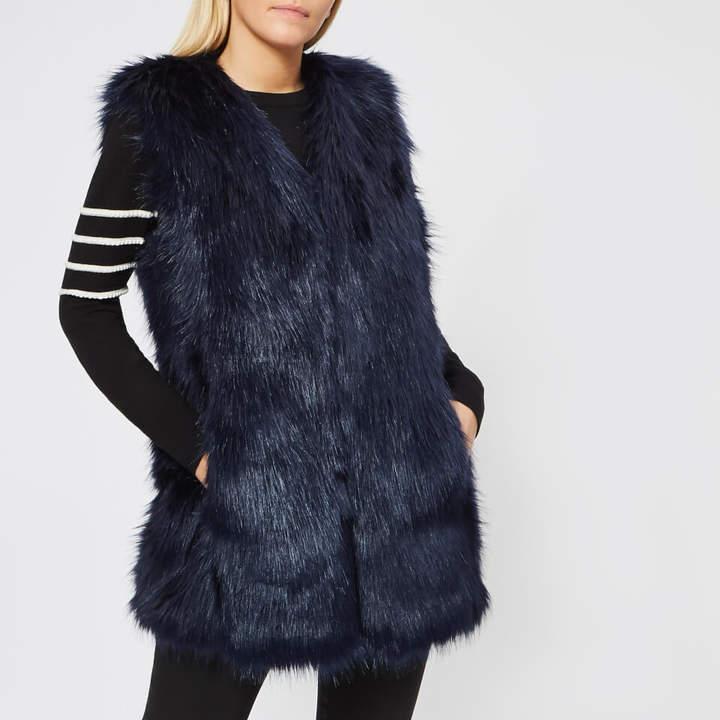 Women's Sleeveless Fur Gilet
