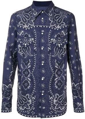 DSQUARED2 western print shirt