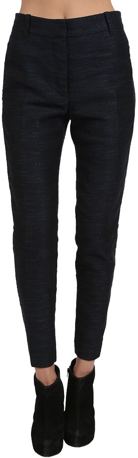 3.1 Phillip Lim Notched Detail Cropped Trouser in Midnight