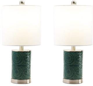 19in Set Of 2 Ceramic Table Lamps