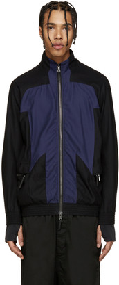 11 by Boris Bidjan Saberi Black & Blue Track Jacket $605 thestylecure.com