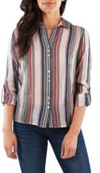 KUT from the Kloth Kendra Stripe Button Up Blouse