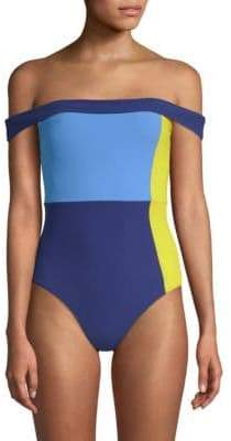 Flagpole Gia Off-The-Shoulder One-Piece