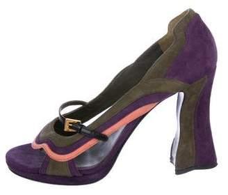 Prada Suede High-Heel Sandals