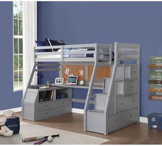 5d679773090b ACME Furniture Acme Jason Ii Twin Loft Bed & Storage Ladder