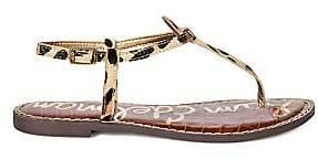 Sam Edelman Women's Gigi Leopard Print T-Strap Sandals