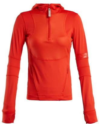 adidas by Stella McCartney Run Hooded Performance Top - Womens - Red