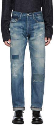 Junya Watanabe Denim Levi's 505 Patchwork Jeans in 1 (Blue