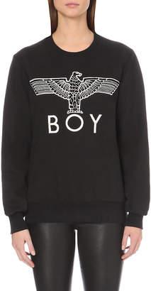 Boy London Eagle-appliqué cotton-jersey sweatshirt