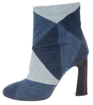 Roger Vivier Denim Ankle Boots