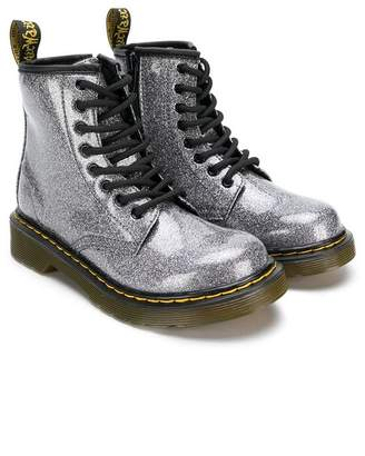 Dr. Martens Kids glitter lace-up boots
