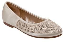 KensieGirl Crystal Embellished Ballet Flat
