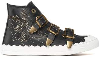 See by Chloe Kyle Semi-shiny Studded Sneakers