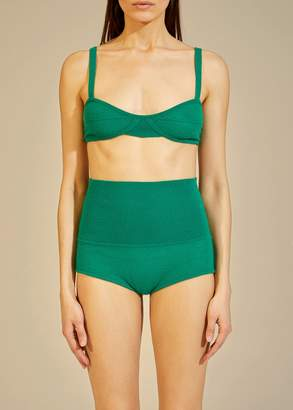 KHAITE The Eda Bralette in Kelly Green