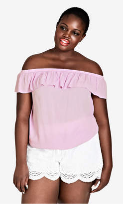 City Chic Lilac Summer Delight Top