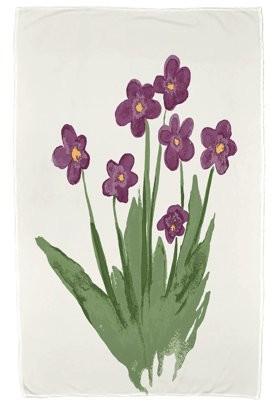 Simply Daisy, 30 x 60 inch, Pretty Little Flower Beach Towel, Purple