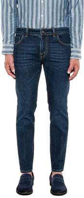 Entre Amis Dark Blue Denim Cropped Jeans