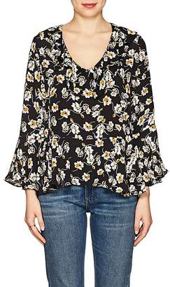 By Ti Mo byTiMo Women's Climbing Flowers-Print Crepe Blouse