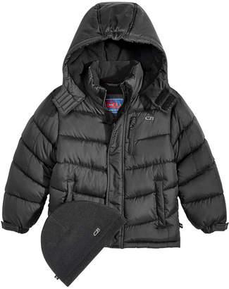 CB Sports Hooded Puffer Coat, Little Boys