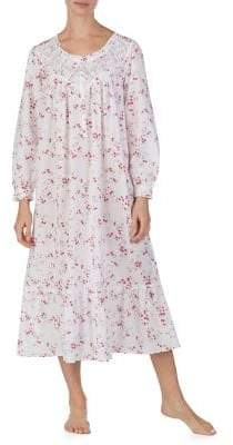 Eileen West Floral Lace Cotton Night Gown